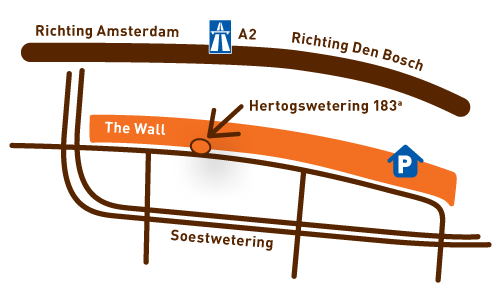 Doppio Utrecht The Wall plattegrond